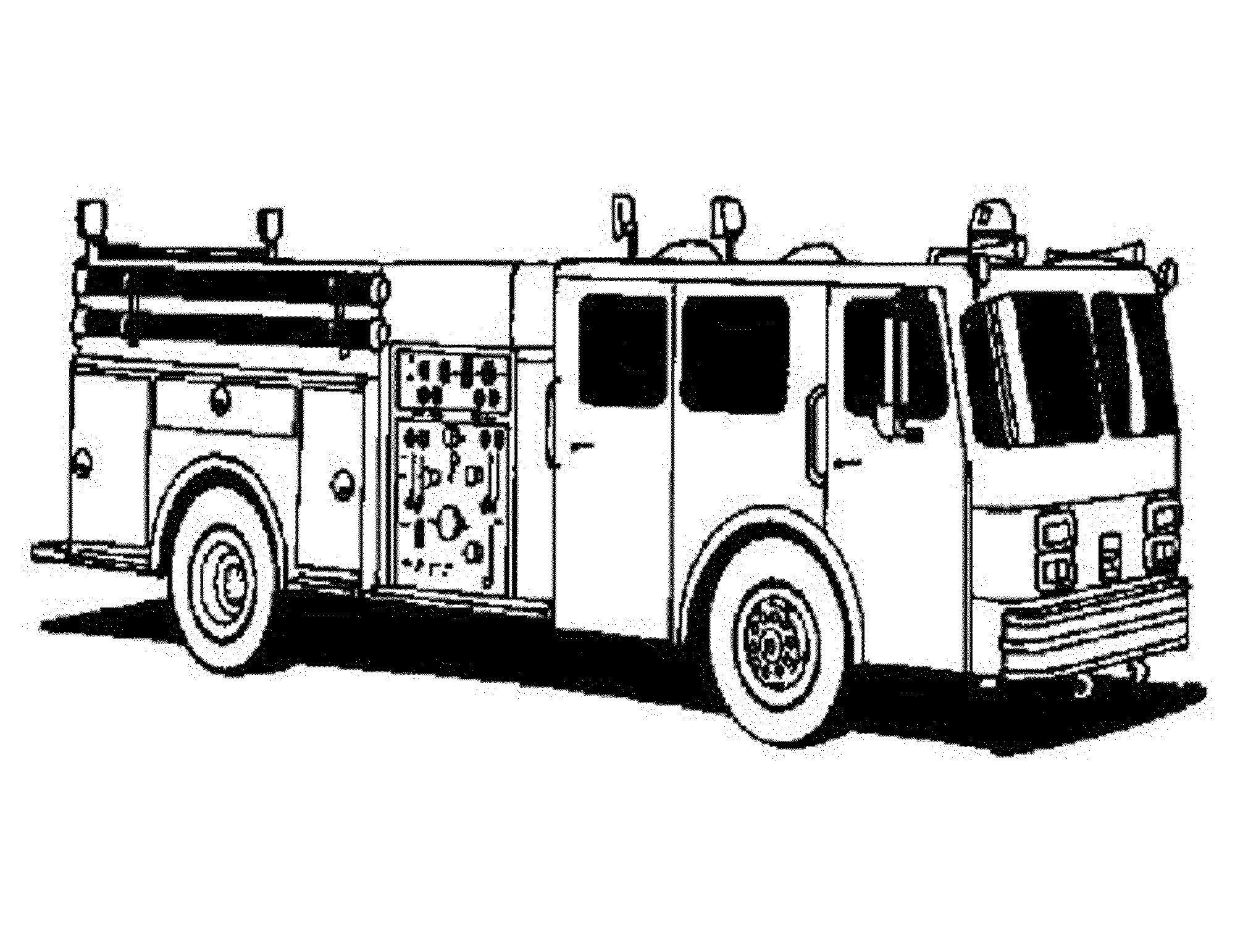 fire truck coloring pages preschoolers printable kids colouring