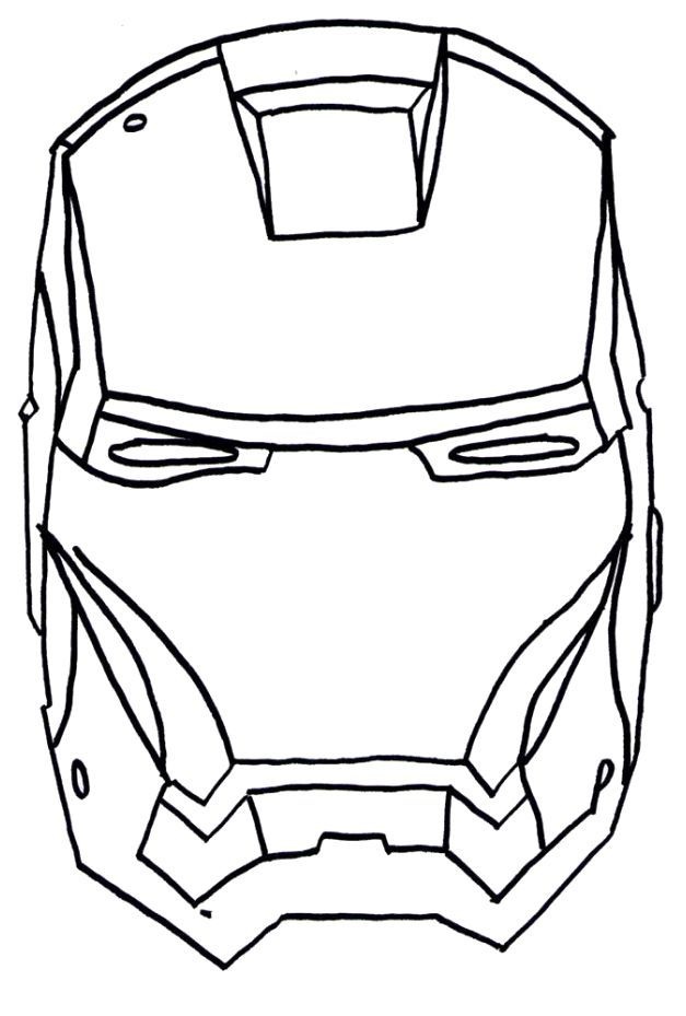 Captain America Face Coloring Pages