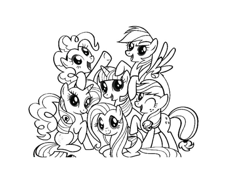 My little pony coloring pages with all ponies coloring home for Little pony coloring pages pdf