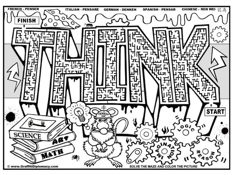 Graffiti Coloring Pages For Kids Coloring Home