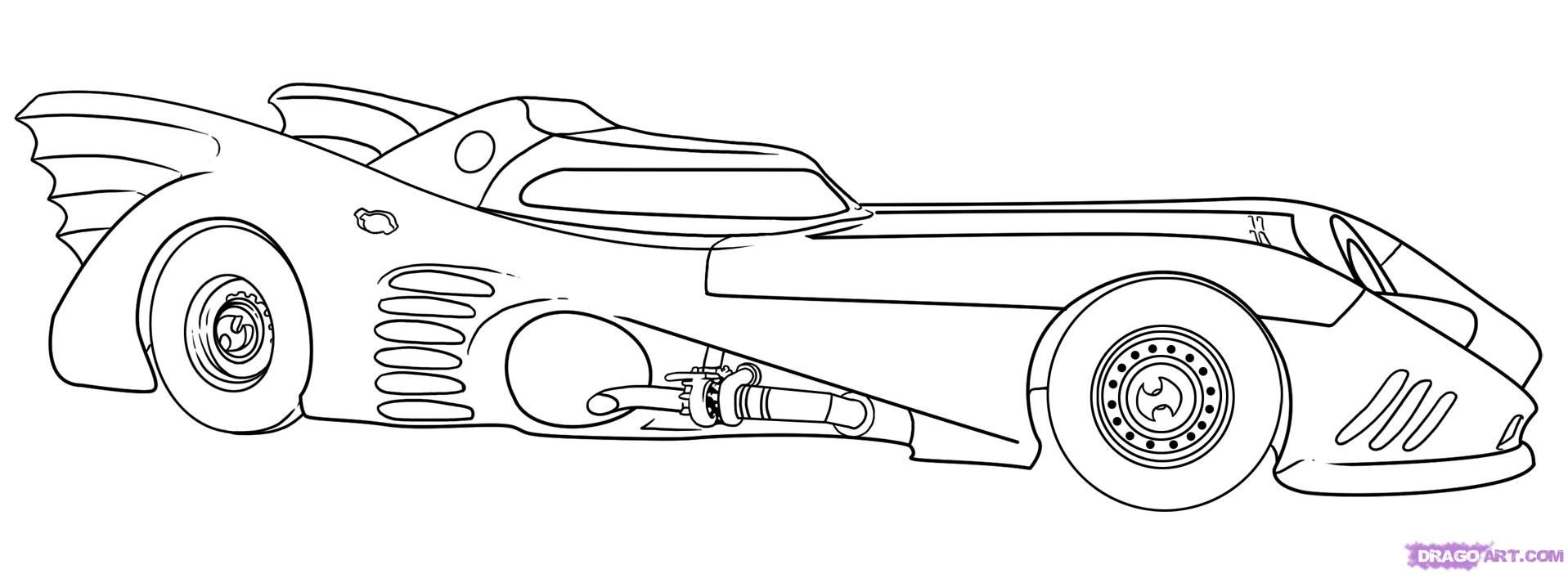 Batmobile Coloring Page - Coloring Home