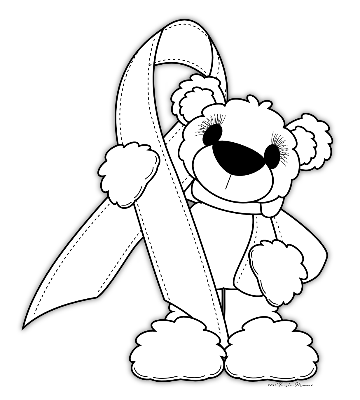 breast cancer awareness coloring pages for kids | Coloring Pages For Breast Cancer Ribbon - Coloring Home