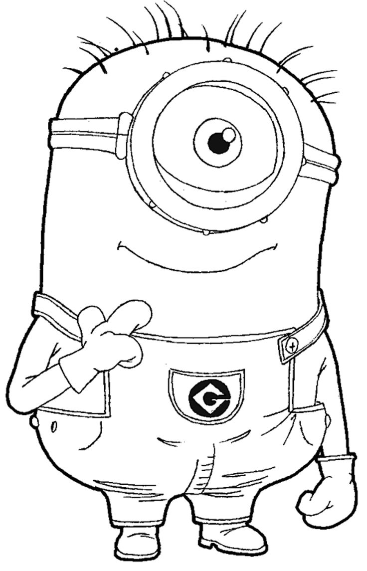 Minion Coloring Pages | Coloring Pages | Pinterest | Coloring ...