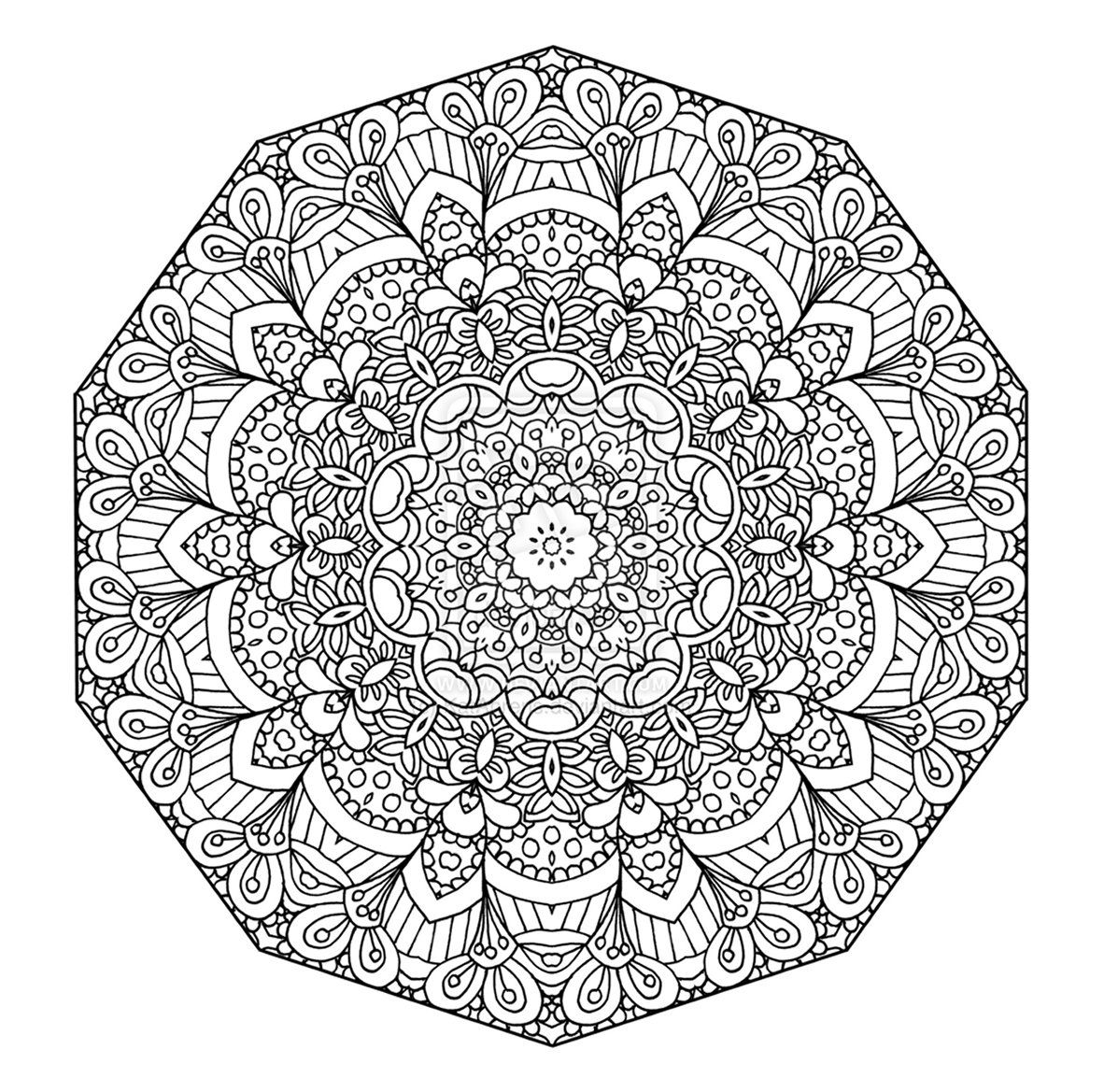 advanced mandala coloring pages for kids and for adults - Printable Coloring Pages Advanced