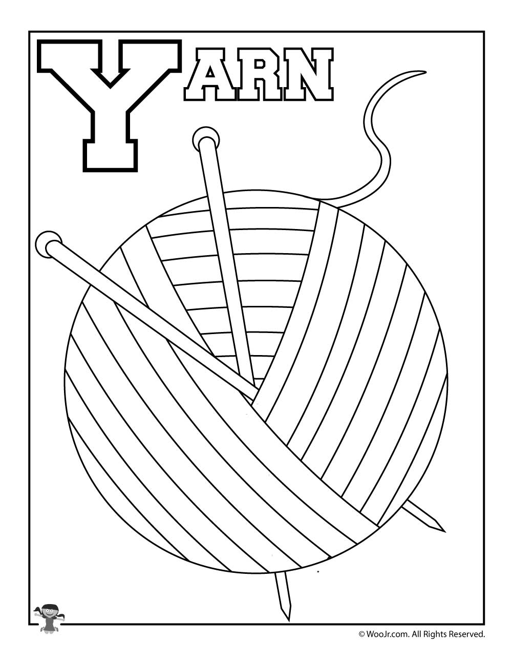 yarn coloring pages - 768×994