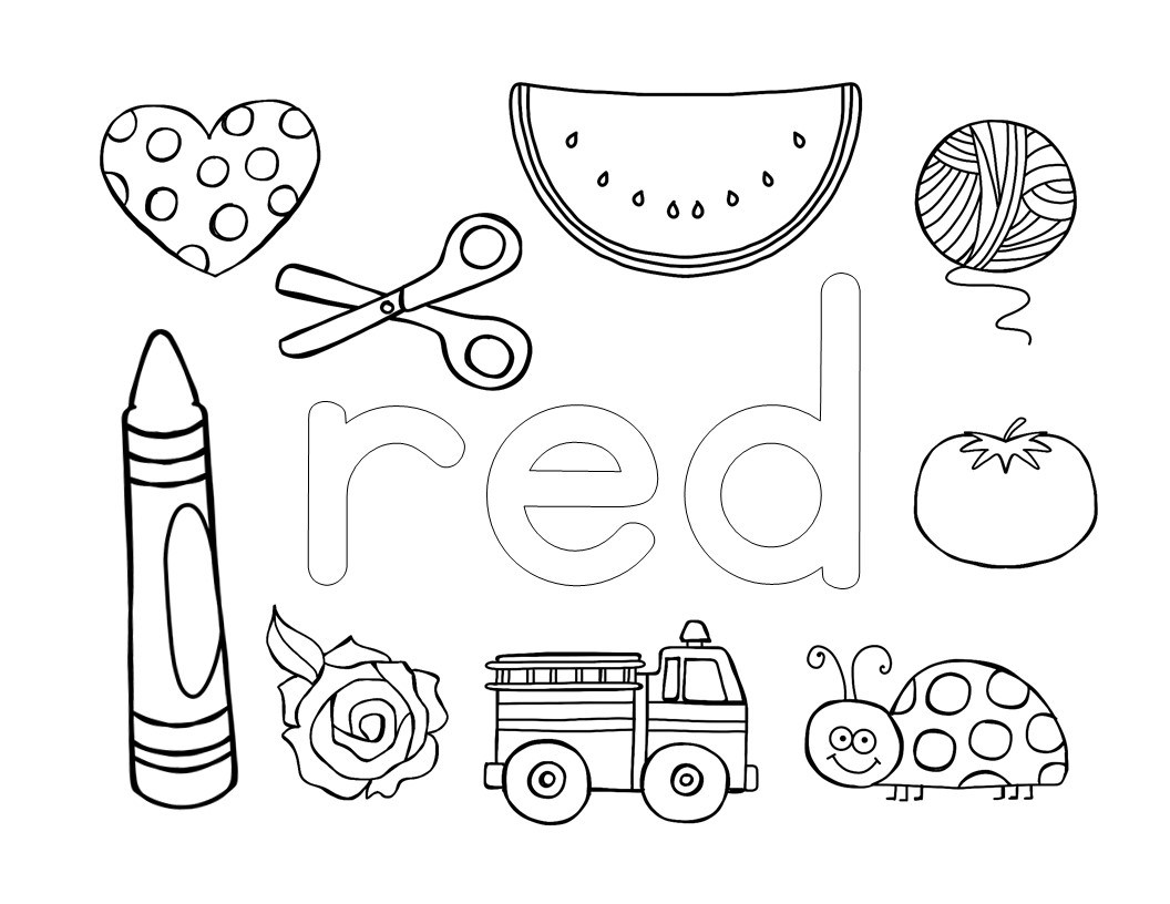 Learning About Colors – Coloring Pages – The Super Teacher