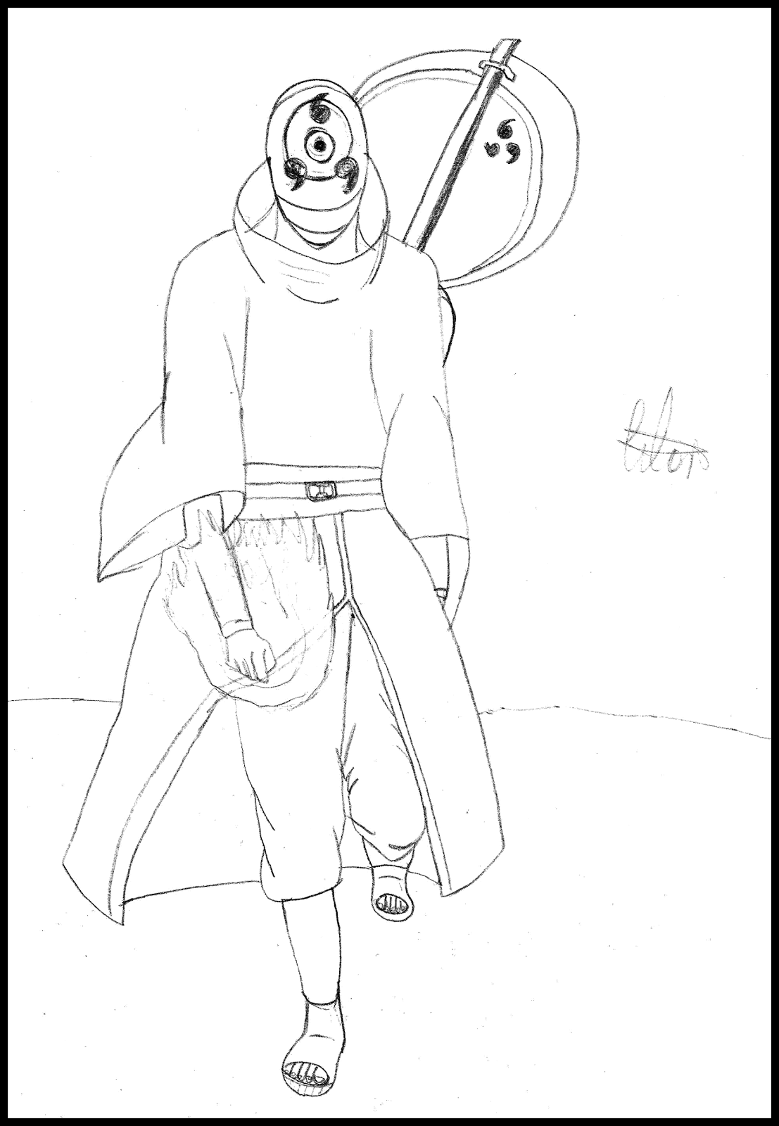 Naruto Tobi Characters Coloring Pages (Page 1) - Line.17QQ.com