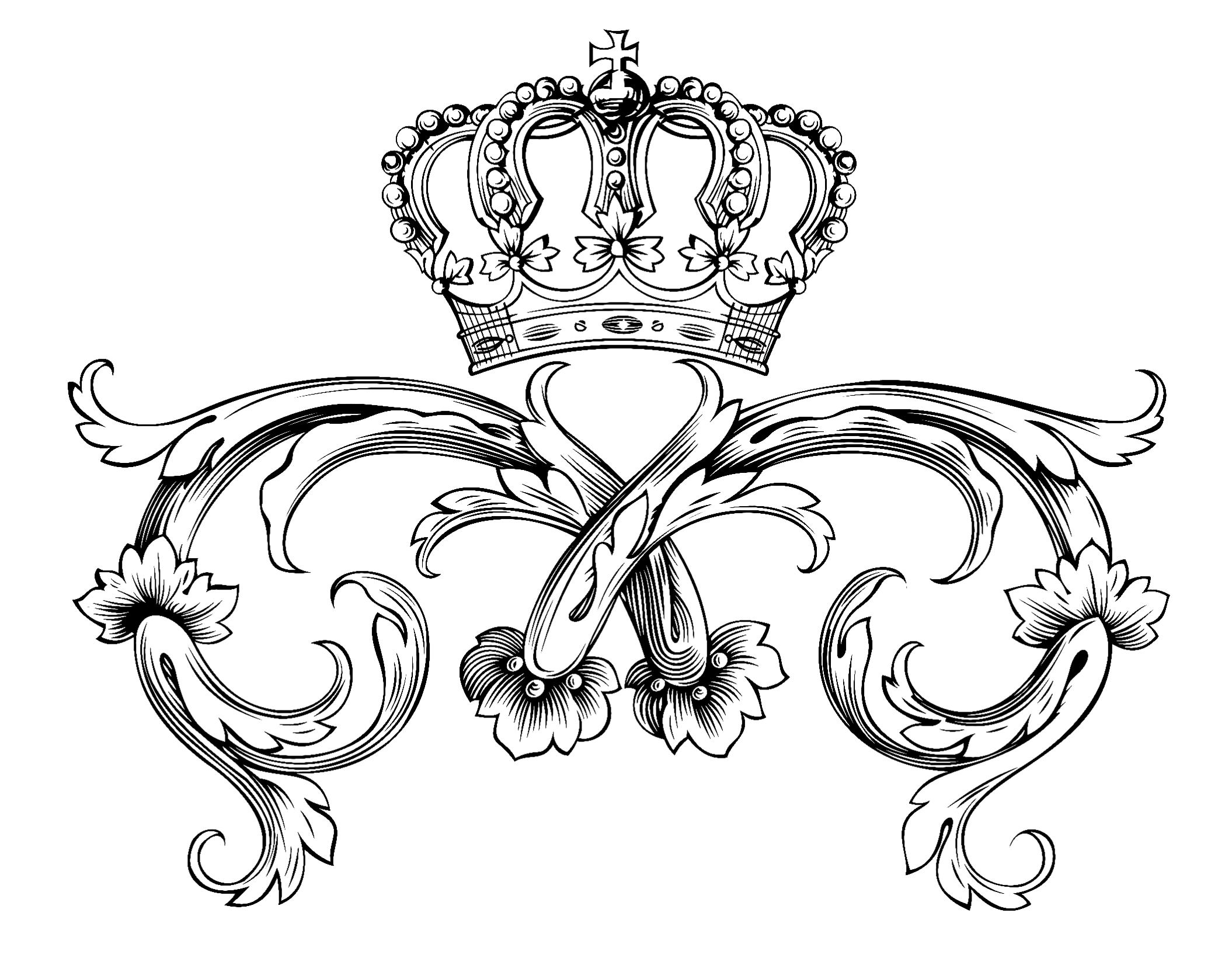 Royal - Coloring Pages for adults : coloring-adult-symbol-royal ...