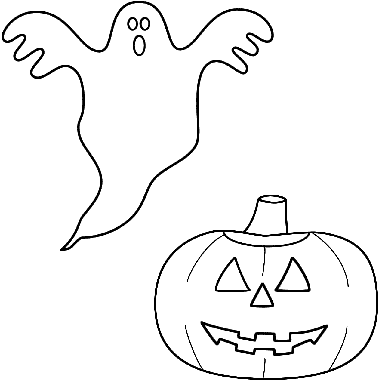 Jack O Lantern Coloring Pages Printable - Coloring Home | 1270x1270