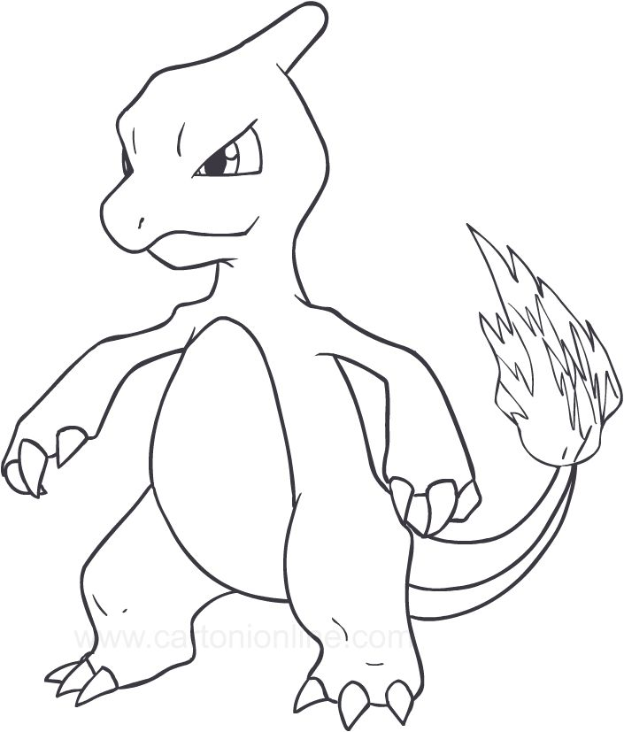 charmeleon coloring pages coloring home charmeleon coloring pages coloring home