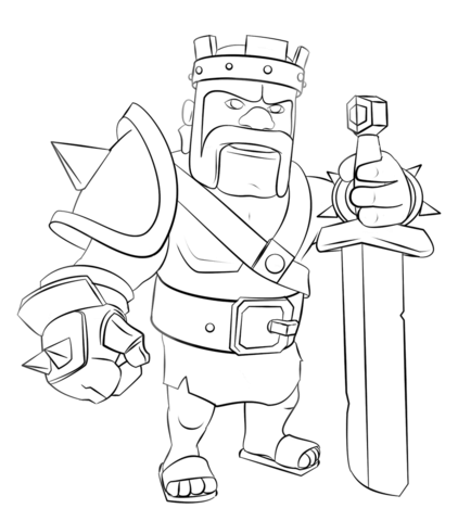Clash Of Clans Coloring Pages Coloring Home