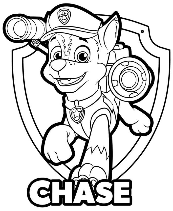 Paw Patrol Chase Drawing Free Download On ClipArtMag - Coloring Home