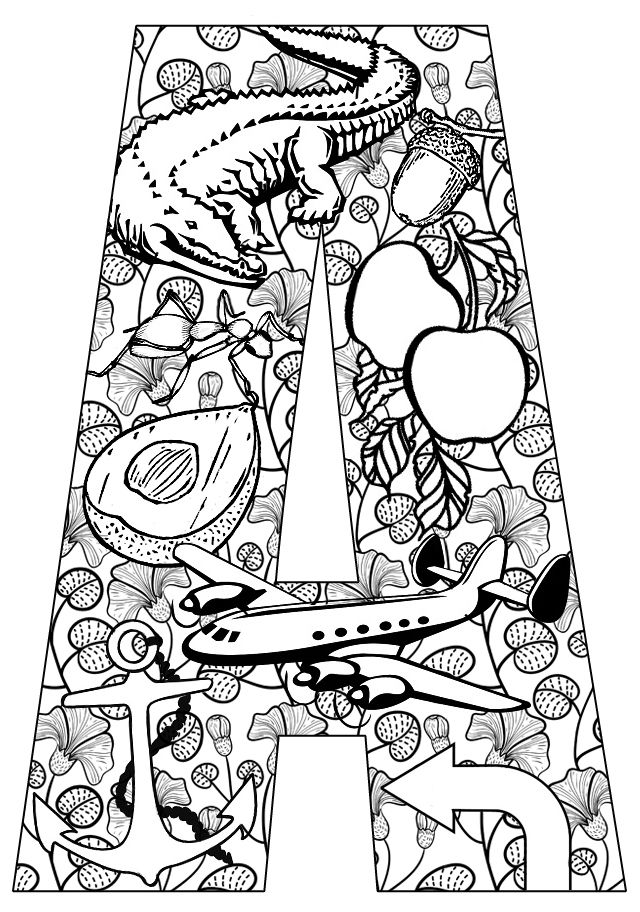 Things that start with A - Free Printable Coloring Pages ...