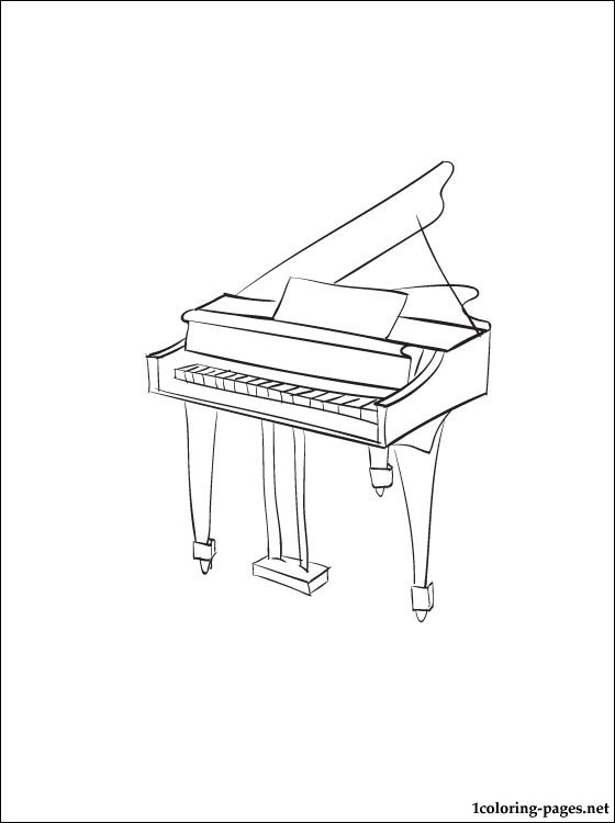 Piano coloring page | Coloring pages