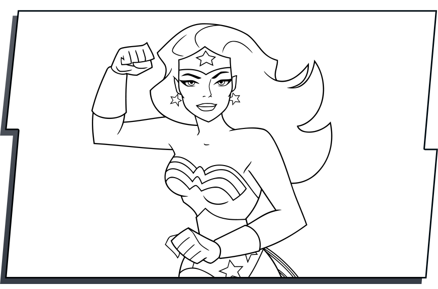 Download Coloring Pages Wonder Woman Pages In Pages: Wonder Woman Logo Coloring Pages Coloring Pages
