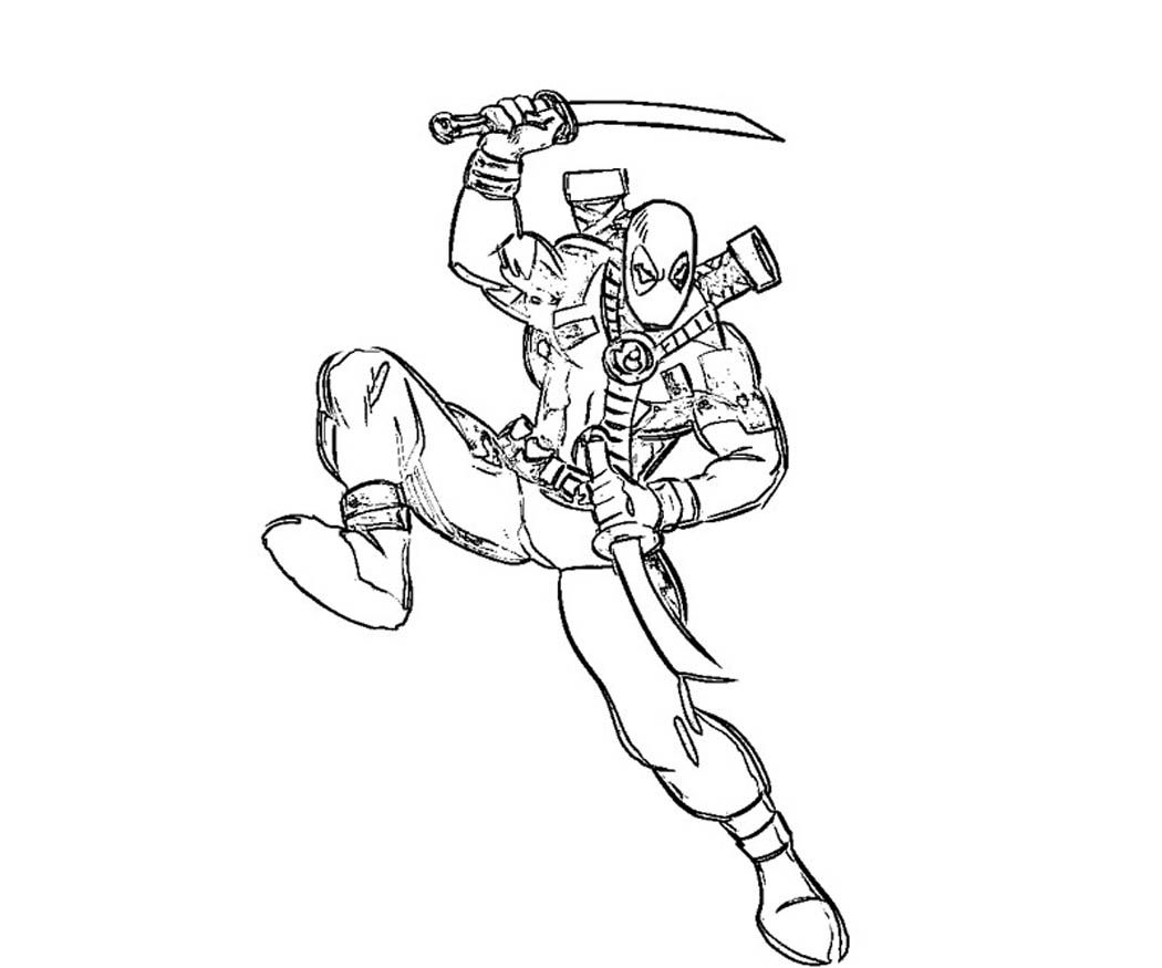 Coloring pages deadpool - Printable Deadpool Coloring Pages Coloring Me