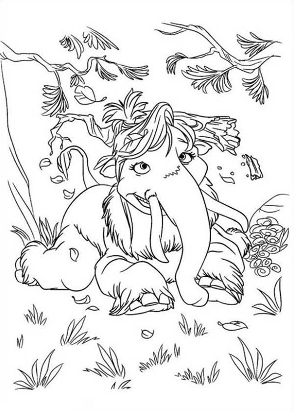 11 Pics Of Ice Age Peaches Coloring Pages - Ice Age Manny And ...