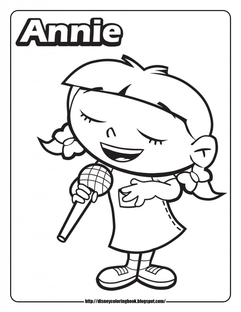 Little Einsteins Coloring Pages Annie Cartoons Coloring Home