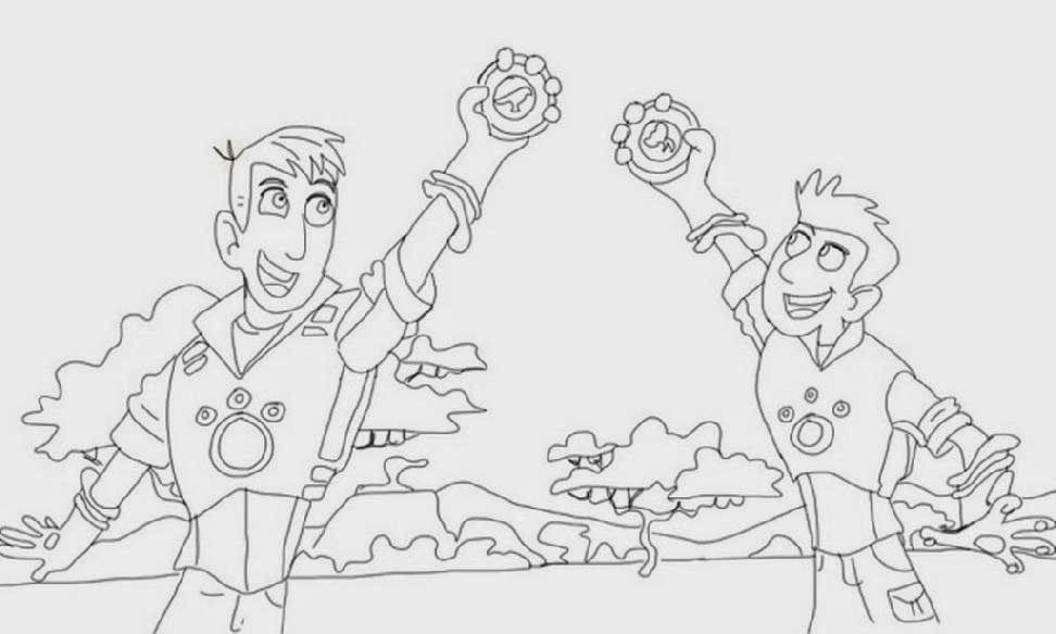 wild kratts coloring pages free coloring pages