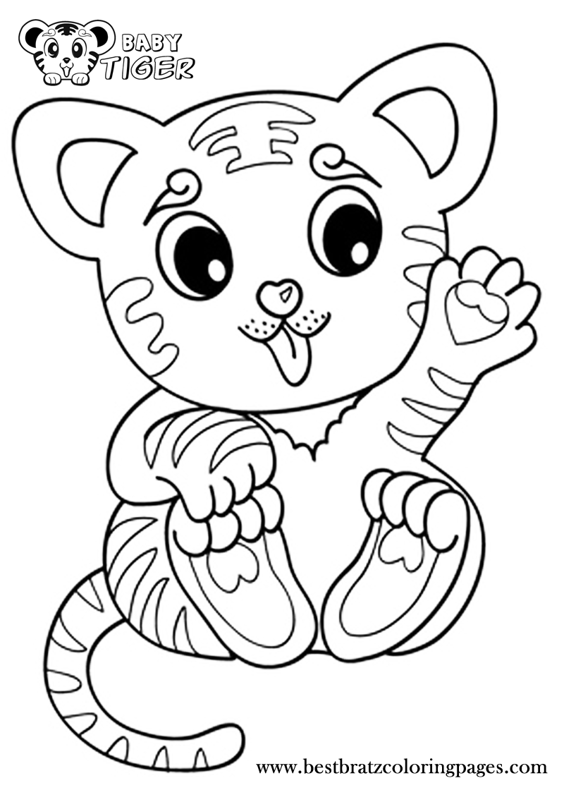 Ausmalbilder Zootiere: Coloring Pages Tiger Cubs