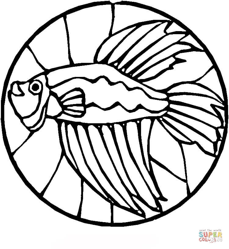 simple stained glass coloring pages - photo#21
