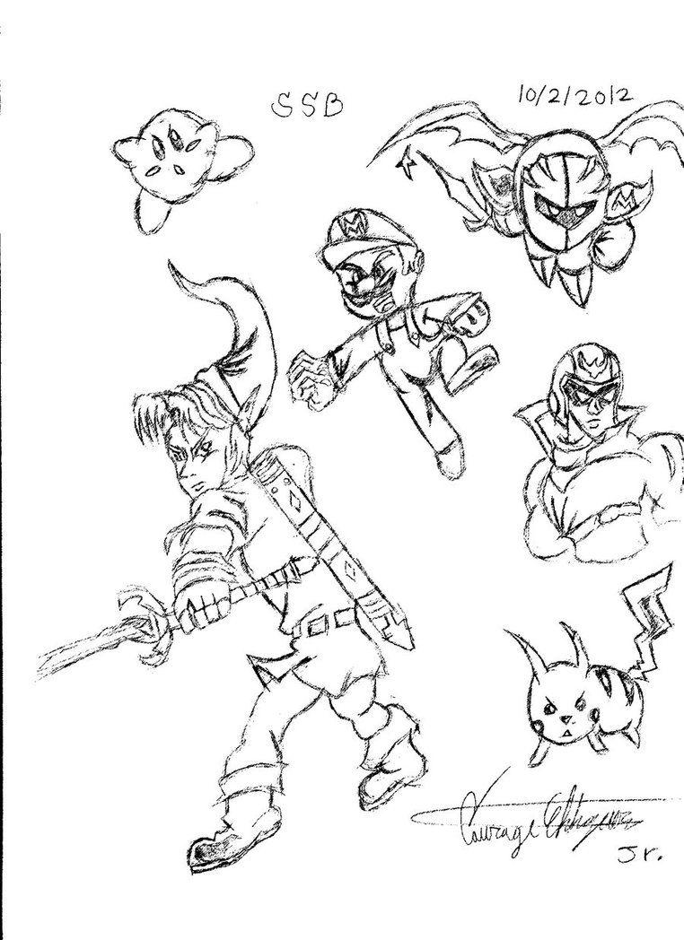 12 Pics Of Pit Super Smash Bros Coloring Pages Super Smash Bros