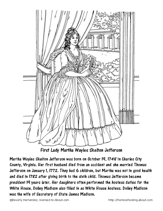 Printable Coloring Page Of Photo Of Thomas Jefferson Coloring Home – Thomas Jefferson Worksheet