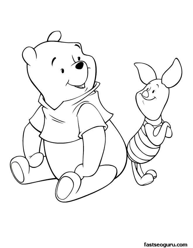Disney Cartoon Coloring Pages Print - High Quality Coloring Pages