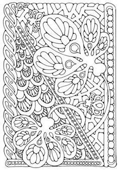 fractal coloring pages for kids - photo#6
