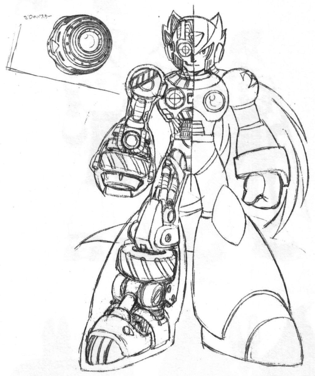 mega man coloring pages free - photo#24