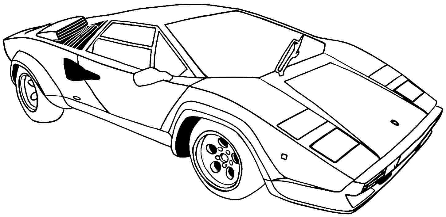 Coloring Pages Cars Cartoon : Printable coloring pages of sports cars home