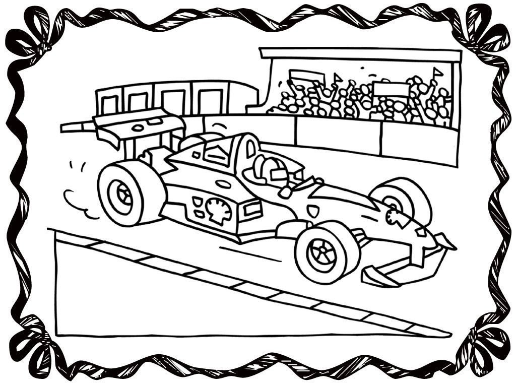 Race car and race track coloring pages coloring home for Racing coloring pages