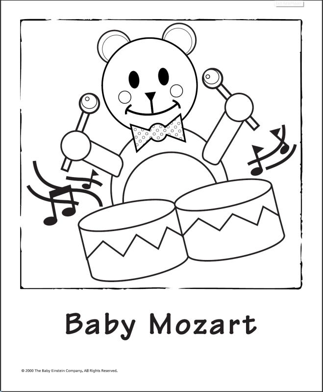 baby bach coloring pages - photo #3