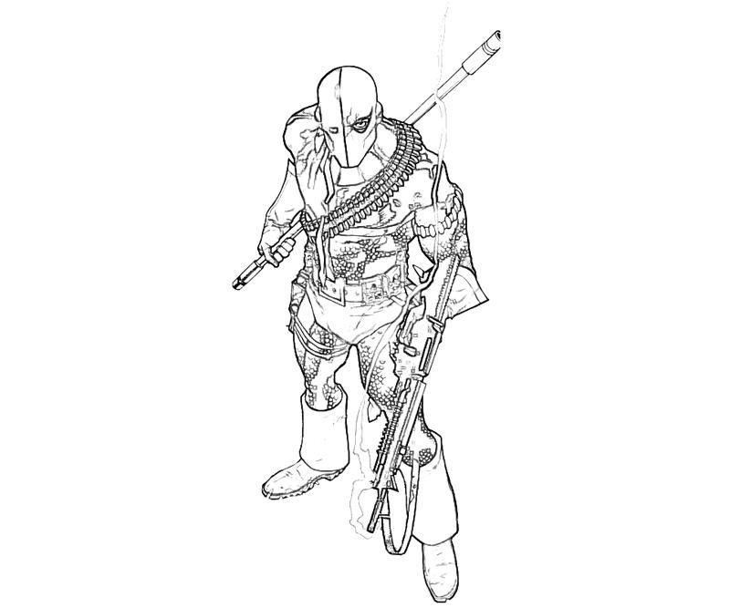 coloring pages of deathstroke injustice - photo#3