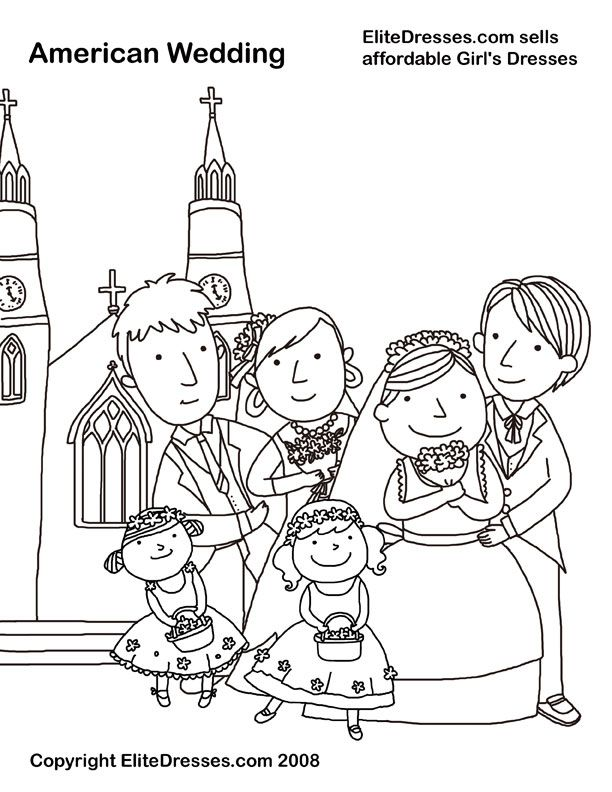 Wedding Coloring Pages that are free and Printable