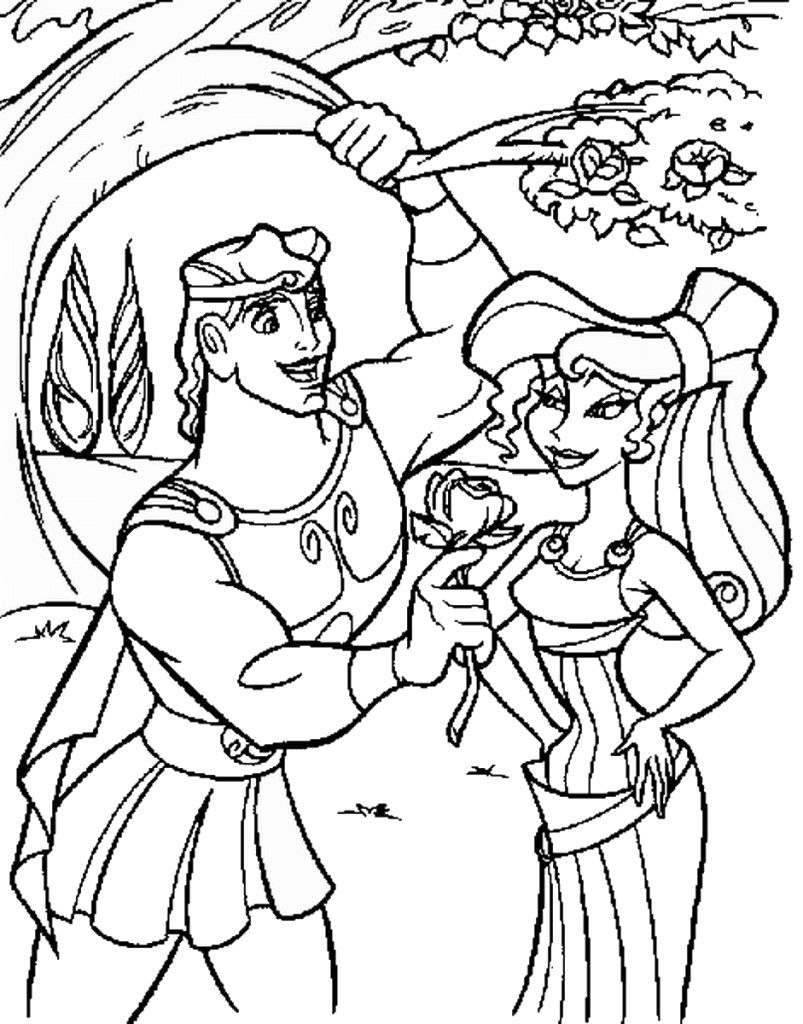 disney hercules coloring pages - photo#10