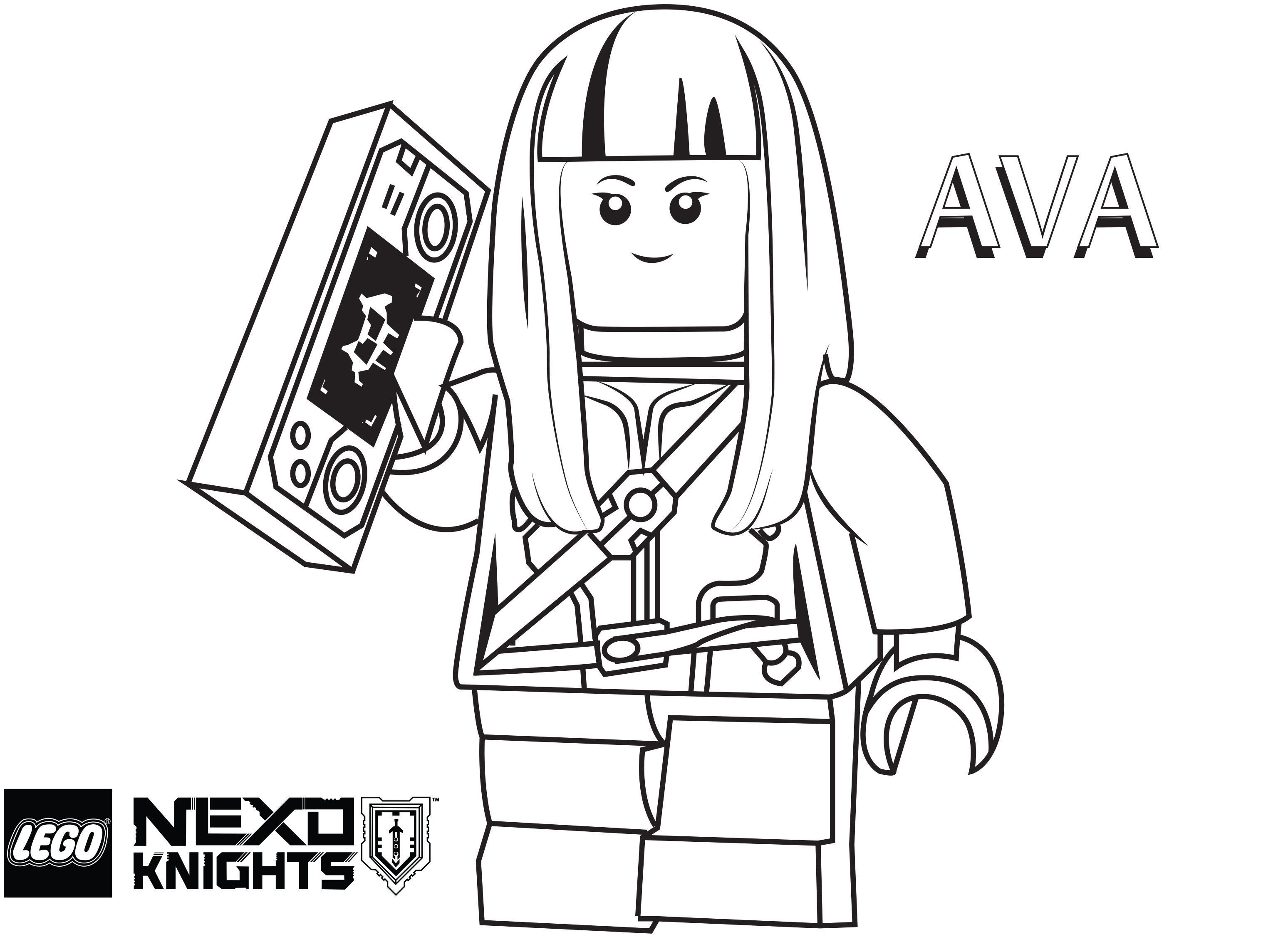 Coloring Pages Nexo Knights : Lego nexo knights coloring pages