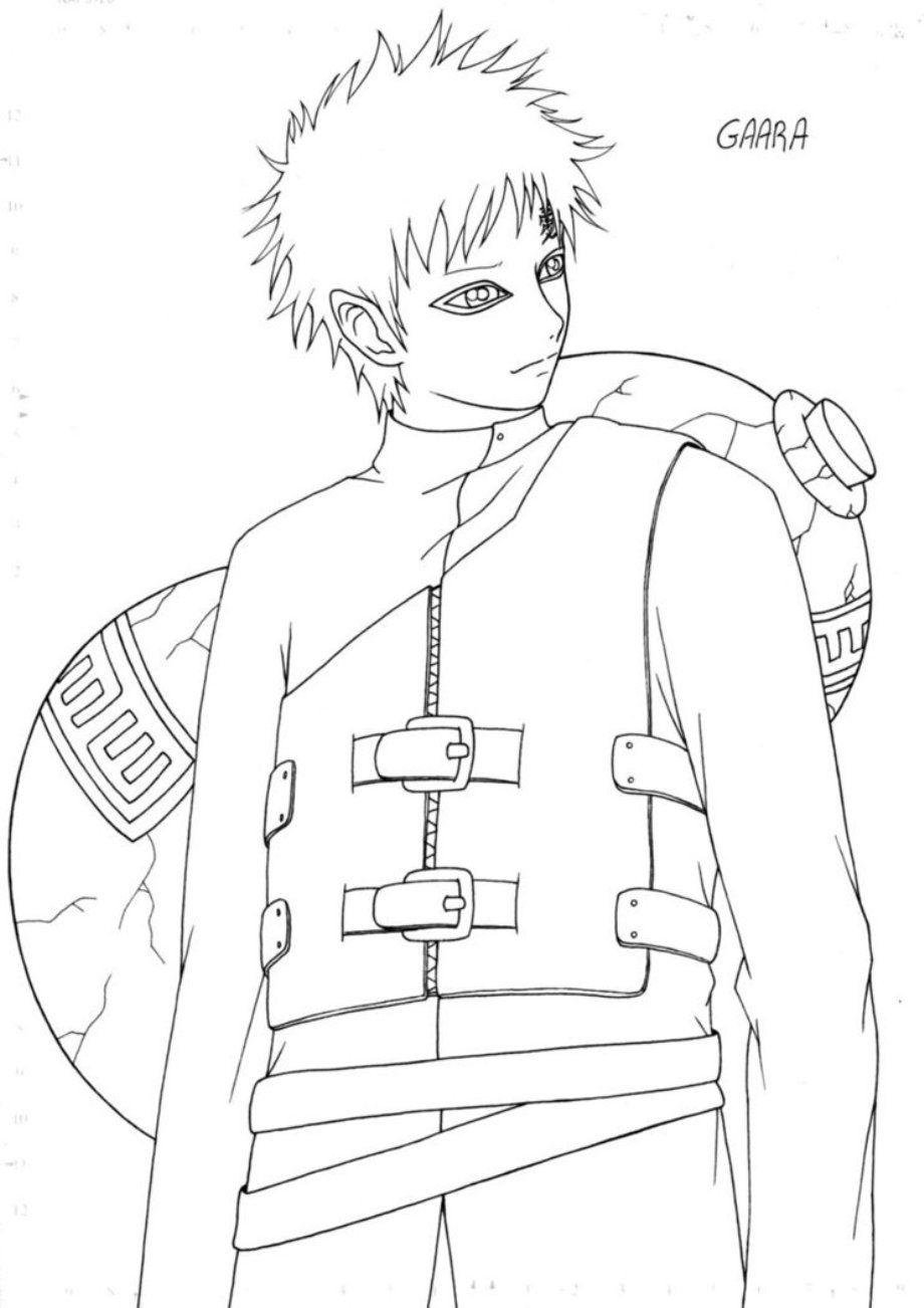 gaara coloring pages - photo#26