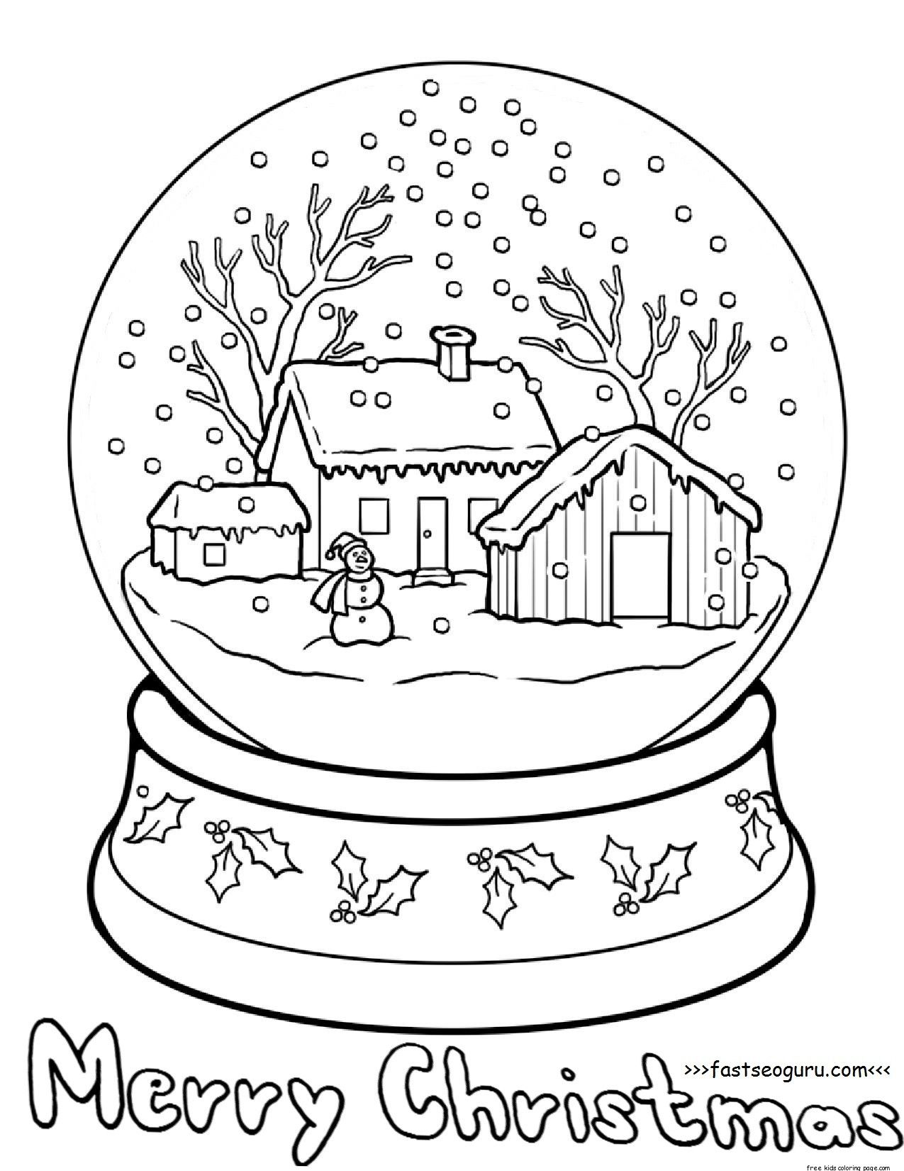 Printble christmas snow globe coloring pages for kids | Coloring pages  winter, Christmas coloring pages, Coloring books