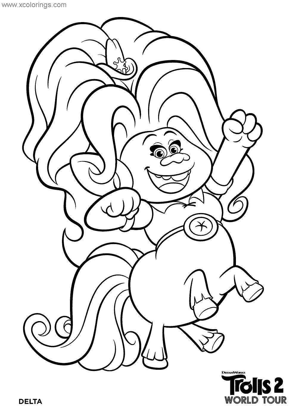 trolls world tour coloring pages - coloring home