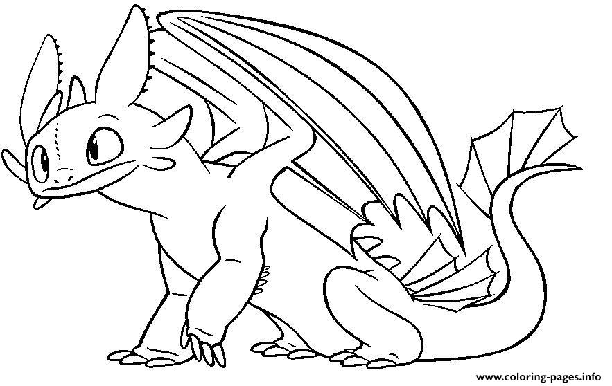 Toothless Night Fury Dragon Coloring Pages Printable Coloring Home