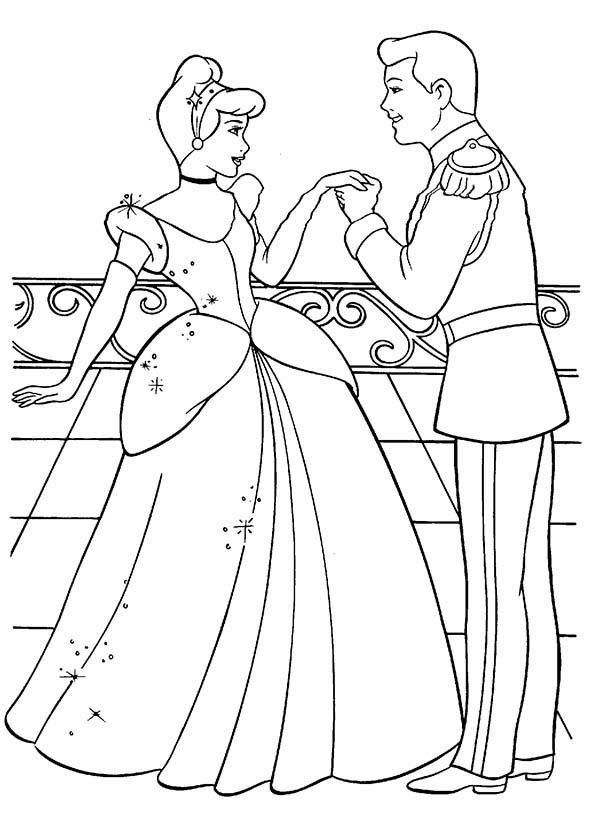Princesses Birthday Coloring Pages
