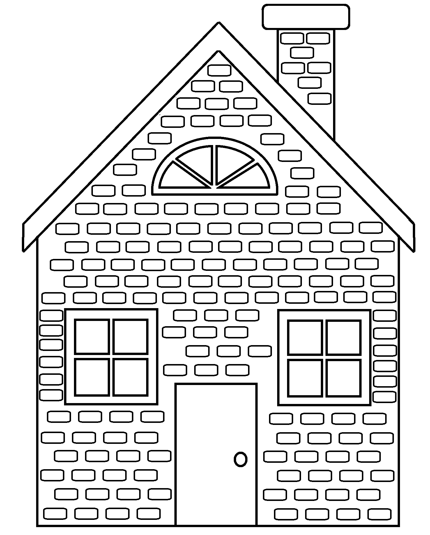 Clip Art Brick Coloring Page brick coloring page az pages 9 pics of house 3 little pigs house