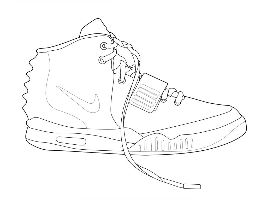 14 Pics of Nike Shoes Air Force Coloring Pages - Nike Air Force ...
