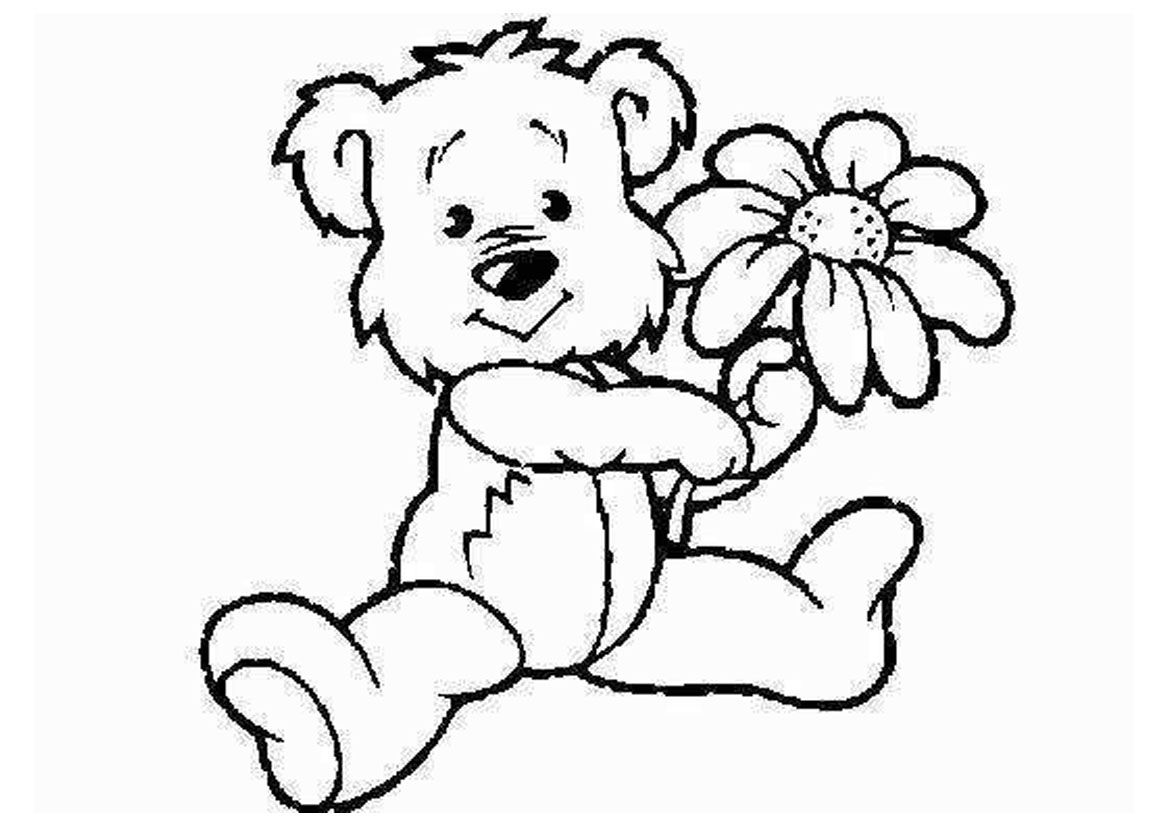 Cartoon Animals Coloring Pages Of Flowers - Coloring Pages For All ...