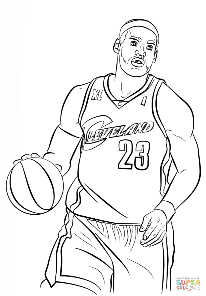 LeBron James coloring page | Free Printable Coloring Pages
