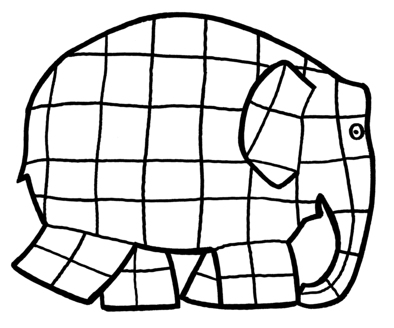 Elmer Elephant Coloring Page - Coloring Home