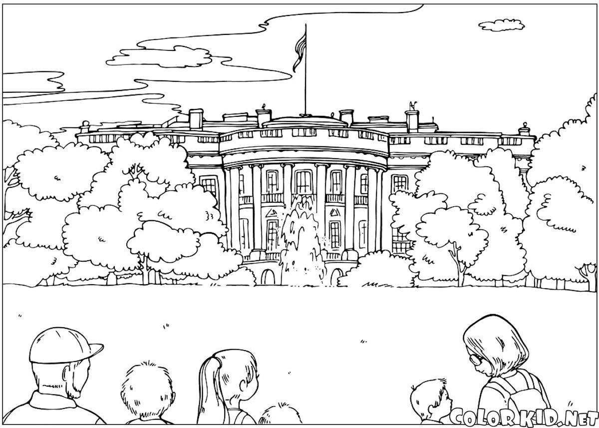 Coloring Pages White House Coloring Pages white house coloring page az pages page