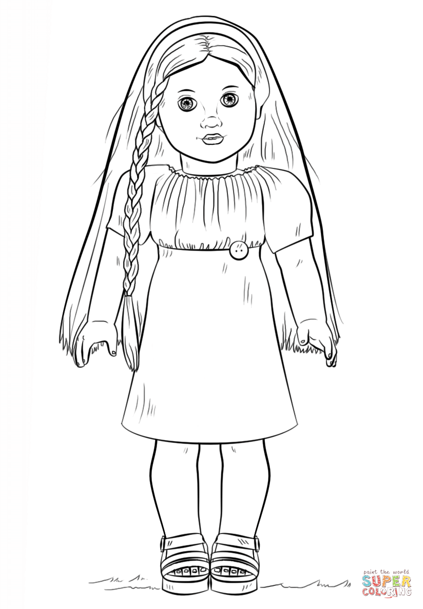 American Girl Doll Julie coloring page | Free Printable Coloring Pages