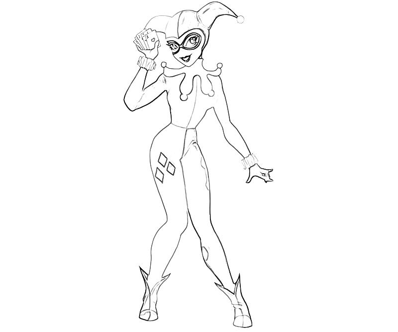 Harley Quinn Coloring Page Coloring